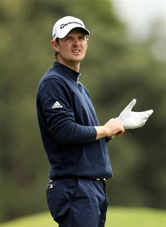 VIRGINIA WATER, ENGLAND - MAY 27:  Justin Rose of England looks on during the second round of the BMW PGA Championship at the Wentworth Club on May 27, 2011 in Virginia Water, England.  (Photo by Ian Walton/Getty Images)