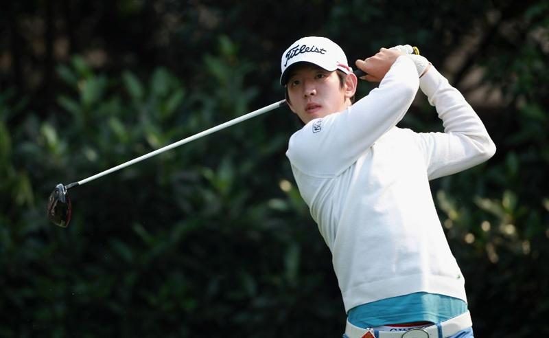 SHANGHAI, CHINA - NOVEMBER 06:  Noh Seung-yul of Korea in action during the third round of the WGC-HSBC Champions at Sheshan International Golf Club on November 6, 2010 in Shanghai, China.  (Photo by Andrew Redington/Getty Images)
