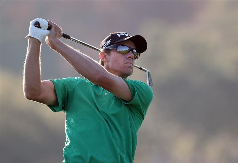 ORLANDO, FL - MARCH 25:  Nick O'Hern of Australia plays a shot on the 14th hole during the second round of the Bay Hill Invitational presented by MasterCard at the Bay Hill Club and Lodge on March 25, 2011 in Orlando, Florida.  (Photo by Sam Greenwood/Getty Images)