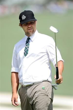 AUGUSTA, GA - APRIL 07:  Ryan Moore watches a putt during a practice round prior to the 2010 Masters Tournament at Augusta National Golf Club on April 7, 2010 in Augusta, Georgia.  (Photo by Harry How/Getty Images)
