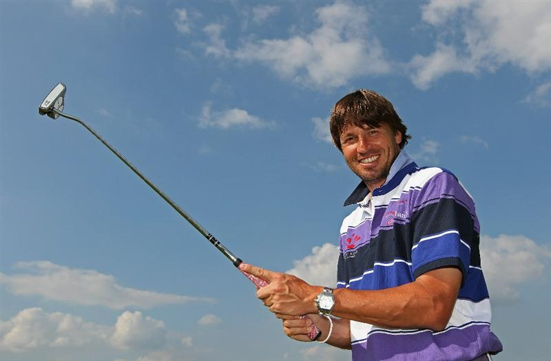 NEWPORT, WALES - JUNE 02:  Robert Jan Derksen of The Netherlands poses for a photograph at the Celtic Manor Wales Open on The Twenty Ten Course at The Celtic Manor Resort on June 2 2010 in Newport, Wales.  (Photo by Andrew Redington/Getty Images)