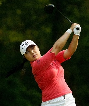 CORNING, NY - MAY 25:  Jeong Jang of South Korea hits her tee shot on the 12th hole during the second round of the Corning Classic at the Corning Country Club on May 25, 2007 in Corning, New York.  (Photo by Kyle Auclair/Getty Images)