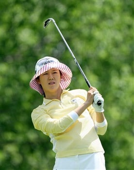 EDINA, MN - JUNE 29:  Young Kim of South Korea tees off at the fourth hole during the final round of the 2008 U.S. Women's Open Championship held at the Interlachen Country Club June 29, 2008 in Edina, Minnesota.  (Photo by David Cannon/Getty Images)