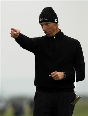 ST ANDREWS, SCOTLAND - OCTOBER 09:  Soren Hansen of Denmark during the third round of The Alfred Dunhill Links Championship at The Old Course on October 9, 2010 in St Andrews, Scotland.  (Photo by Ross Kinnaird/Getty Images)