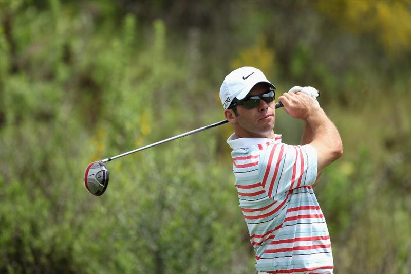 CASARES, SPAIN - MAY 19:  Paul Casey of England tees off on the third hole during the group stages of the Volvo World Match Play Championships at Finca Cortesin on May 19, 2011 in Casares, Spain.  (Photo by Warren Little/Getty Images)