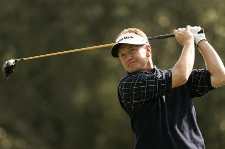 Paul Broadhurst during the final round of the Volvo Masters at the Valderrama Golf Club. October 30, 2005Photo by Pete Fontaine/WireImage.com