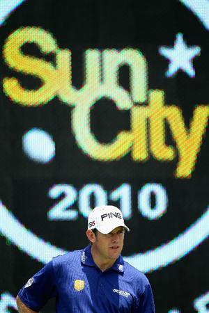 SUN CITY, SOUTH AFRICA - DECEMBER 01:  A portrait of Lee Westwood of England during the pro-am for the 2010 Nedbank Golf Challenge at the Gary Player Country Club Course  on December 1, 2010 in Sun City, South Africa.  (Photo by Warren Little/Getty Images)
