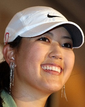 KAPOLEI, HI - FEBRUARY 19:  Michelle Wie talks with the media during a press conference in preparation for the Fields Open at the Ko Olina Golf Club February 19, 2008 in Kapolei, Hawaii.  (Photo by Andy Lyons/Getty Images)