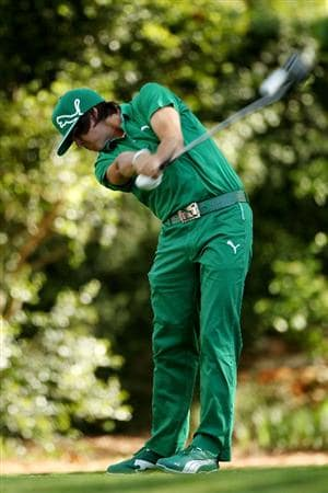 AUGUSTA, GA - APRIL 07:  Rickie Fowler hits his tee shot on the second tee during the first round of the 2011 Masters Tournament at Augusta National Golf Club on April 7, 2011 in Augusta, Georgia.  (Photo by Andrew Redington/Getty Images)