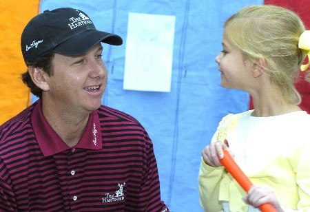 J.J. Henry visits with children at the Cooks Childrens Medical Center during the PGA TOUR's Charity visit on Tuesday, May 17,2005before the  Bank of America Colonial InvitationalPhoto by Marc Feldman/WireImage.com