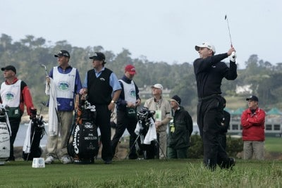 Kevin Sutherland during the fourth round of the AT&T Pebble Beach National Pro-Am on the Pebble Beach Golf Course on February 11, 2007. PGA TOUR - 2007 AT&T Pebble Beach National Pro-Am - Final RoundPhoto by Michael Cohen/WireImage.com