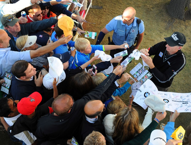 Jim Furyk and fans