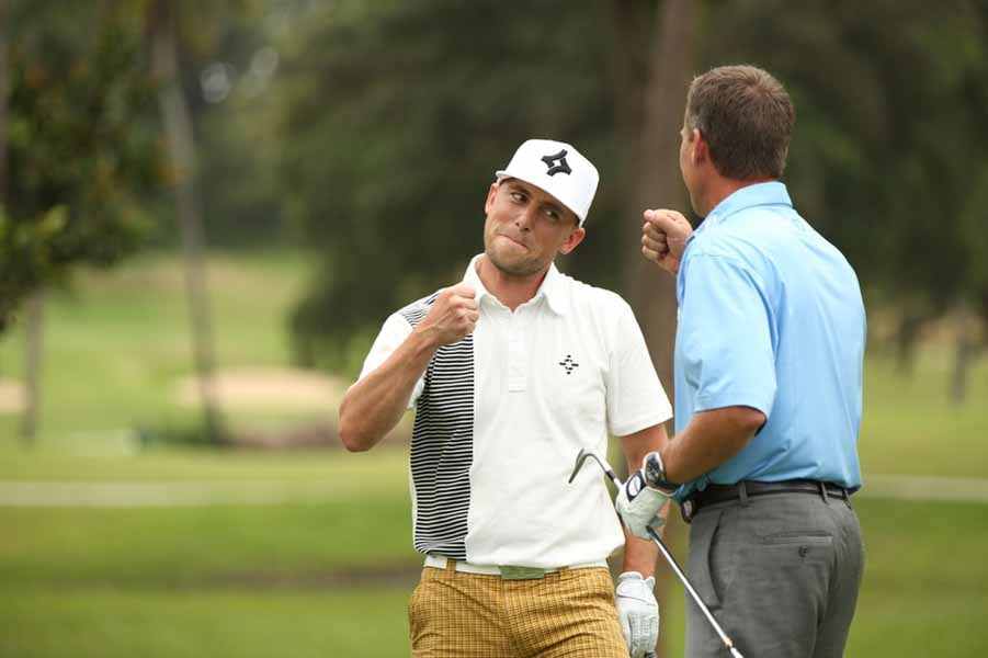 Michael Breed Fist Pumping with James Lepp
