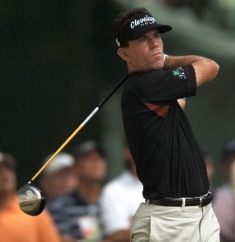 Skip Kendall hits from the third tee during the second round of the 2005 Bank of America Colonial at Colonial Country Club in Forth Worth, Texas May 20, 2005.Photo by Steve Grayson/WireImage.com