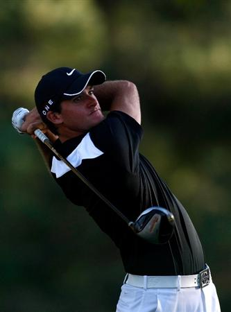 BOISE, ID - SEPTEMBER 17:  Sam Saunders tees off on the 5th hole during the first round of the Albertson's Boise Open at Hillcrest Country Club on September 17, 2009 in Boise, Idaho.  (Photo by Jonathan Ferrey/Getty Images)
