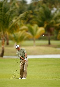 RIO GRANDE, PUERTO RICO - MARCH 21:  Esteban Toledo of Mexico hits his approach shot on the 5th hole during the second round of the Puerto Rico Open presented by Banco Popular held on March 21, 2008 at Coco Beach Golf & Country Club in Rio Grande, Puerto Rico.  (Photo by Mike Ehrmann/Getty Images)
