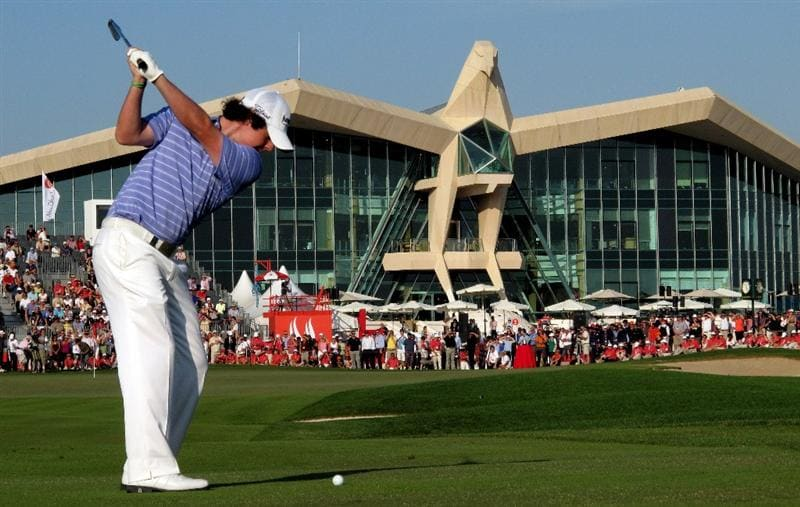 ABU DHABI, UNITED ARAB EMIRATES - JANUARY 24: Rory McIlroy of Northern Ireland during the final round of the Abu Dhabi Golf Championship at the Abu Dhabi Golf Club on January 24, 2010 in Abu Dhabi, United Arab Emirates.  (Photo by Ross Kinnaird/Getty Images)
