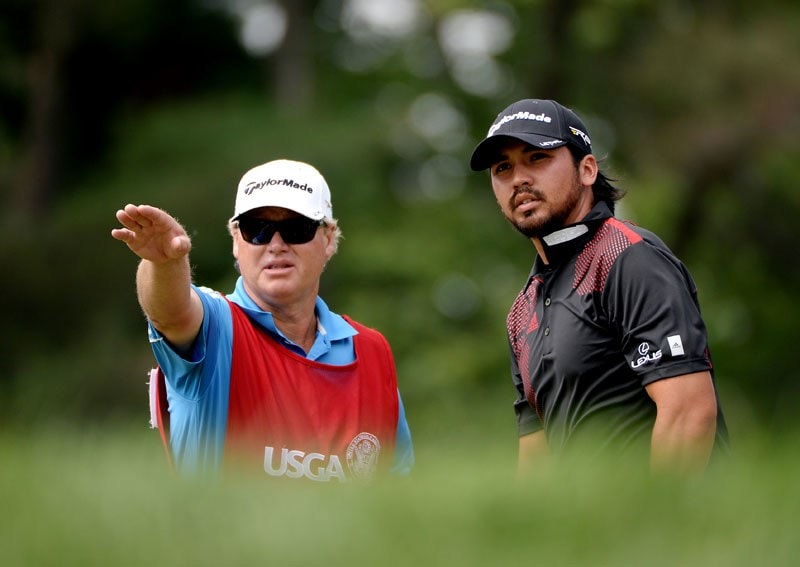 Jason Day and Colin Swatton