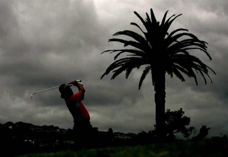 SYDNEY, AUSTRALIA - DECEMBER 11:  Mathew Goggin plays an iron shot during the first round of the 2008 Australian Open at The Royal Sydney Golf Club on December 11, 2008 in Sydney, Australia.  (Photo by Matt King/Getty Images)