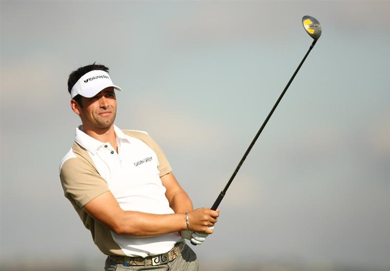 MADRID, SPAIN - OCTOBER 08:  Lee Slattery of England in action during Round One of the Madrid Masters at Cantro Nacional De Golf on October8, 2009 in Madrid, Spain.  (Photo by Ian Walton/Getty Images)