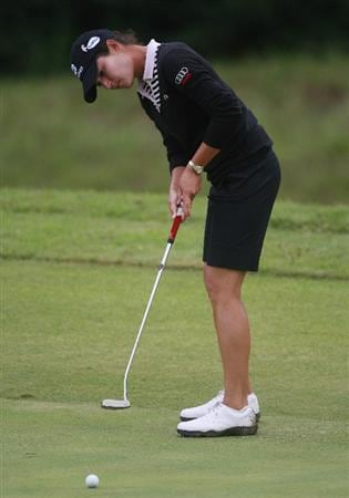 PRATTVILLE, AL - OCTOBER 2:  Lorena Ochoa of Mexico watches her putt on the 16th hole during second round play in the Navistar LPGA Classic at the Robert Trent Jones Golf Trail at Capitol Hill on October 2, 2009 in  Prattville, Alabama.  (Photo by Dave Martin/Getty Images)