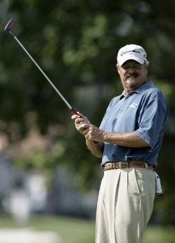 Gary McCord reacts to a missed putt on the 17th hole during the second round of the 2005 SAS Championship Saturday, Oct. 1, 2005, at Prestonwood Country Club in Cary, N.C.Photo by Grant Halverson/WireImage.com