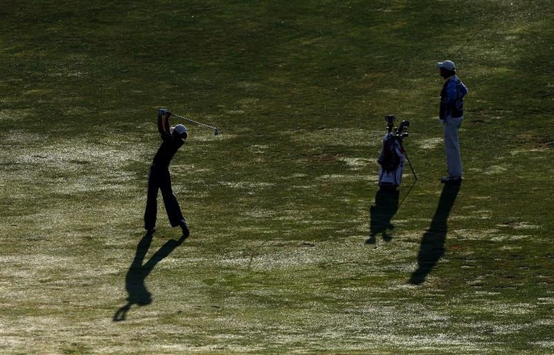 MORELIA, MEXICO- APRIL 24:  Amatuer Regina Plasencia of Mexico hits off the 11th fairway during the second round of the Corona Championship at the Tres Marias Residential Golf Club on April 24, 2009 in Morelia, Michoacan, Mexico. (Photo by Donald Miralle/Getty Images)