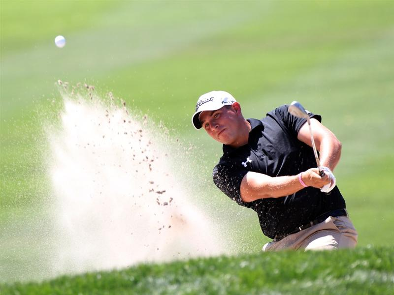 PALM HARBOR, FL - MARCH 20:  Scott Stallings hits a shot on the 1st hole during the final round of the Transitions Championship at Innisbrook Resort and Golf Club on March 20, 2011 in Palm Harbor, Florida.  (Photo by Sam Greenwood/Getty Images)