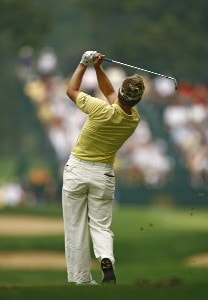 Luke Donald during the third round of the 88th PGA Championship at Medinah Country Club in Medinah, Illinois, on August 19, 2006.Photo by Mike Ehrmann/WireImage.com