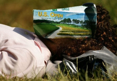 OAKMONT, PA - JUNE 15:  A golf fan takes a nap on the course during the second round of the 107th U.S. Open Championship at Oakmont Country Club on June 15, 2007 in Oakmont, Pennsylvania.  (Photo by Sam Greenwood/Getty Images)