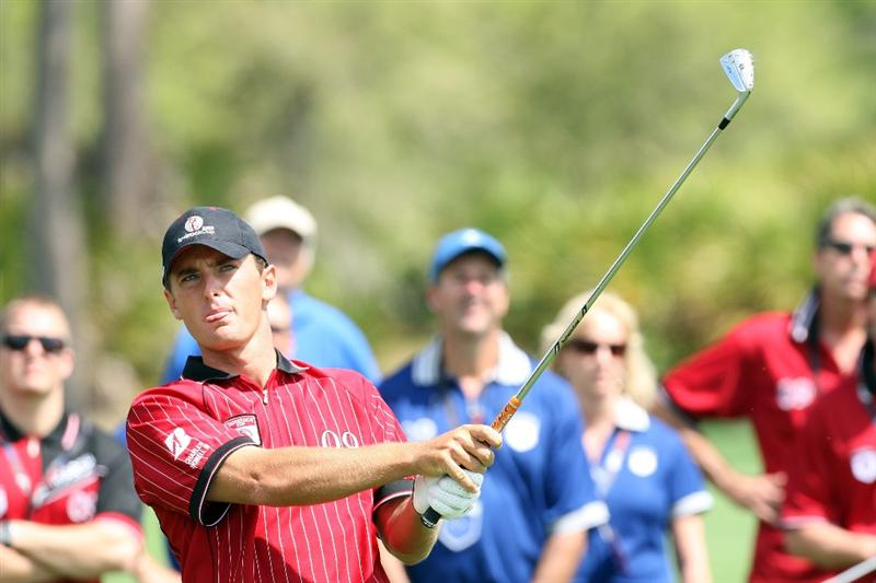 ORLANDO, FL - MARCH 16:  Charles Howell III of the USA and the Isleworth Team at the 8th hole during the first day of the 2009 Tavistock Cup at the Lake Nona Golf and Country Club, on March 16, 2009 in Orlando, Florida  (Photo by David Cannon/Getty Images)