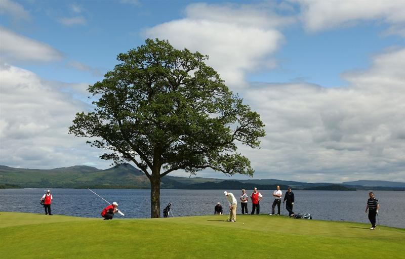 LUSS, UNITED KINGDOM - JULY 08:  Nick Watney of USA putts on the 6th green during the Pro Am prior to The Barclays Scottish Open at Loch Lomond Golf Club on July 08, 2009 in Luss, Scotland. (Photo by Richard Heathcote/Getty Images)