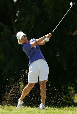 MELBOURNE, AUSTRALIA - MARCH 13: Karrie Webb of Australia hits an approach shot on the 5th hole during day three of the Women's Australian Open at The Commonwealth Golf Club on March 13, 2010 in Melbourne, Australia.  (Photo by Scott Barbour/Getty Images)