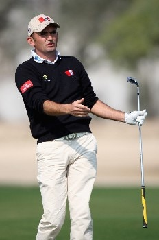 DOHA, QATAR - JANUARY 24:  Markus Brier of Austria on the 15th hole during the first round of the Commercial Bank Qatar Masters held at the Doha Golf Club on January 24, 2008 in Doha,Qatar.  (Photo by Ross Kinnaird/Getty Images)