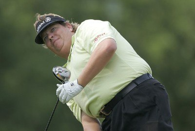 Tim Herron during the first round of the Cialis Western Open on the No. 4 Dubsdread course at Cog Hill Golf and Country Club in Lemont, Illinois on July 6, 2006.