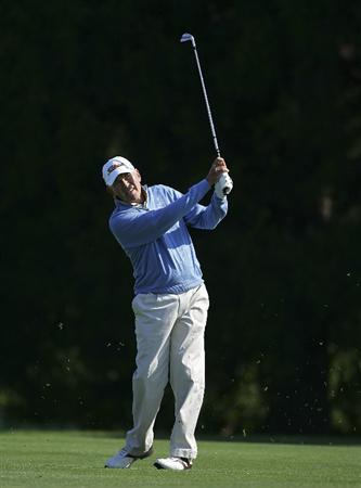 TIMONIUM, MD - OCTOBER 01:  Morris Hatalsky plays a shot during the first round of the Constellation Energy Senior Players Championship at Baltimore Country Club/Five Farms (East Course) held on October 1, 2009 in Timonium, Maryland. (Photo by Michael Cohen/Getty Images)