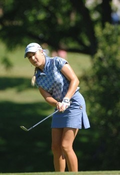 Natalie Gulbis chips into the first green during the final round of the Jamie Farr Owens Corning Classic, July 10, 2005.Photo by Al Messerschmidt/WireImage.com