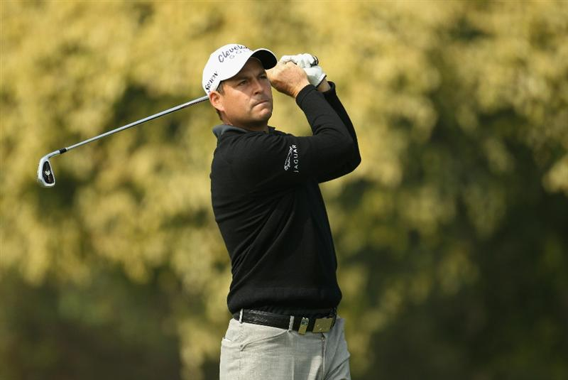 NEW DELHI, INDIA - FEBRUARY 17:  David Howell of England in action during the first round of the Avantha Masters held at The DLF Golf and Country Club  on February 17, 2011 in New Delhi, India.  (Photo by Ian Walton/Getty Images)