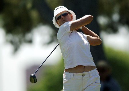 Patricia Meunier-Lebouc in action during the second round of the 2005 LPGA  Takefuji Classic at the Las Vegas Country Club in Las Vegas, Nevada, April 15, 2005Photo by Steve Grayson/WireImage.com