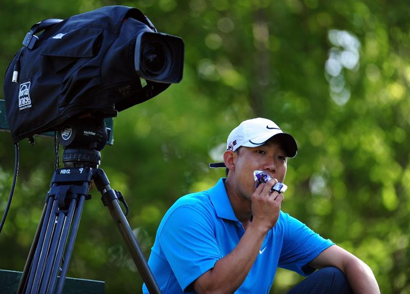 CHASKA, MN - AUGUST 14:  Anthony Kim waits on the 16th tee during the second round of the 91st PGA Championship at Hazeltine National Golf Club on August 14, 2009 in Chaska, Minnesota.  (Photo by Stuart Franklin/Getty Images)