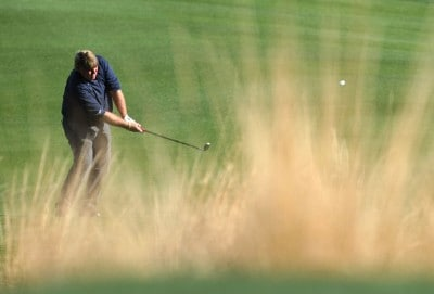 John Daly hits from the rough on the 12th hole during the first round of the 49th Bob Hope Chrysler Classic at the Silverrock Resort on January 16, 2008 in La Quinta, California. PGA TOUR - 2008 Bob Hope Chrysler Classic - Round OnePhoto by Harry How/WireImage.com