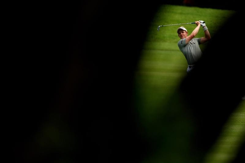 SUN CITY, SOUTH AFRICA - DECEMBER 05:  Luke Donald of England plays into the 11th green during the second round of the Nedbank Golf Challenge at the Gary Player Country Club on December 5, 2008 in Sun City, South Africa.  (Photo by Richard Heathcote/Getty Images)