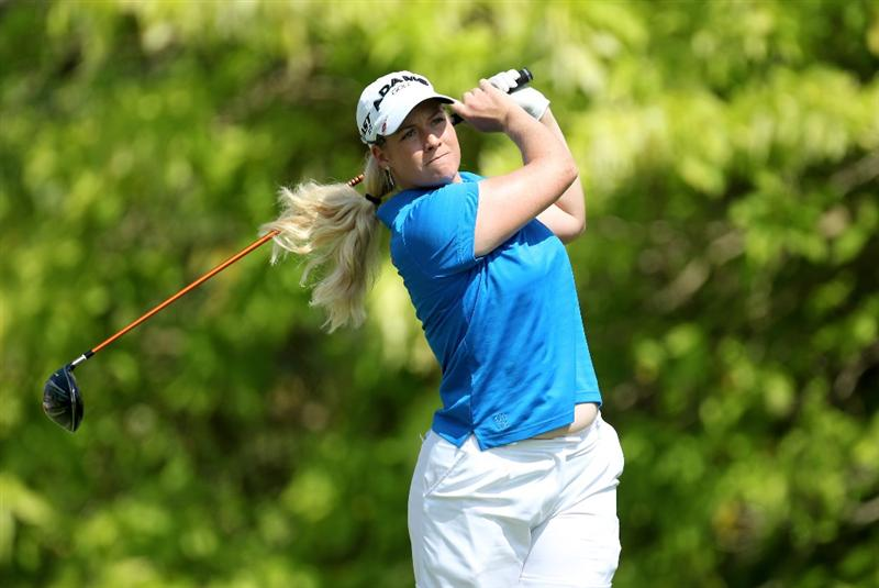 SINGAPORE - FEBRUARY 26:  Brittany Lincicome of the USA during the second round of the HSBC Women's Champions at the Tanah Merah Country Club on February 26, 2010 in Singapore.  (Photo by Ross Kinnaird/Getty Images)