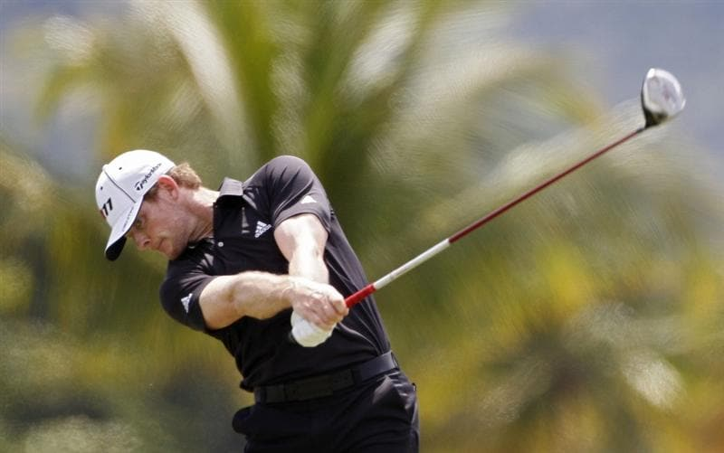 RIO GRANDE, PR - MARCH 10:  James Driscoll hits a drive during the first round of the Puerto Rico Open presented by seepuertorico.com at Trump International Golf Club on March 10, 2011 in Rio Grande, Puerto Rico. He leads the tournament after shooting a 63 to tie the course record.  (Photo by Michael Cohen/Getty Images)