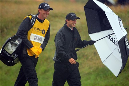SOUTHPORT, UNITED KINGDOM - JULY 17:  Amateur Reinier Saxton of The Netherlands walks down the 1st hole with his caddy during the First Round of the 137th Open Championship on July 17, 2008 at Royal Birkdale Golf Club, Southport, England.  (Photo by Andrew Redington/Getty Images)