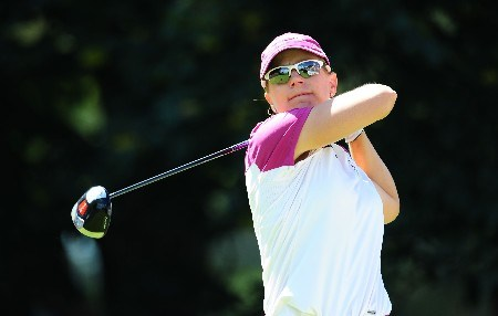 OTTAWA - AUGUST 17:  Annika Sorenstam of Sweden makes a tee shot on the first hole during the final round of the CN Canadian Women's Open at the Ottawa Hunt and Golf Club on August 17, 2008 in Ottawa, Ontario, Canada.  (Photo by Robert Laberge/Getty Images)