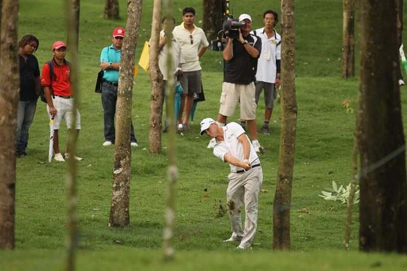 KUALA LUMPUR, MALAYSIA - APRIL 16:  Alexander Noren of Sweden in action during day three of the Maybank Malaysian Open at Kuala Lumpur Golf & Country Club on April 16, 2011 in Kuala Lumpur, Malaysia.  (Photo by Ian Walton/Getty Images)