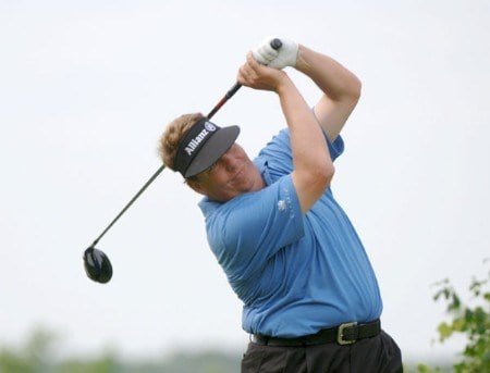 Tim Herron tees off on the 17th hole during the final round of the Cialis Western Open at the Cog Hill Golf Club July 3, 2005 in Lemont, Illinois.Photo by Al Messerschmidt/WireImage.com