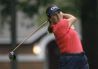 Lorie Kane during the first round of the 2006 Wendy's Championship for Children held at Tartan Fields Golf Club in Dublin, Ohio on August 24, 2006.Photo by Kevin C.  Cox/WireImage.com