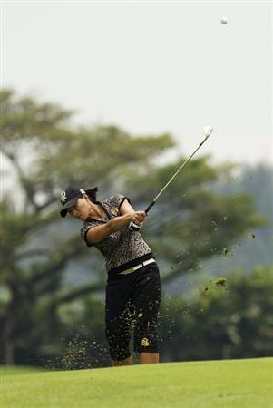 SINGAPORE - MARCH 07:  Se Ri Pak of South Korea hits her third shot on the par five 15th hole during the third round of HSBC Women's Champions at the Tanah Merah Country Club on March 7, 2009 in Singapore.  (Photo by Victor Fraile/Getty Images)